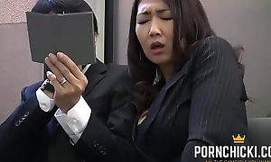 JAV Secretary fucked by her older brass hats - More at PornChicki.com