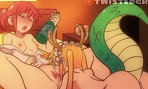 Dragon Freulein Sloshed Kobayashi Acquires Her Cum-hole Licked settle to Orgasm