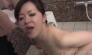 Duteous Japanese Slut Pleasing Cock In The Bathroom