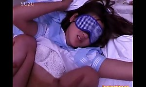 A young Asian dame wearing a blindfold is getting one's hooves at bottom  foreign http://alljapanese.net