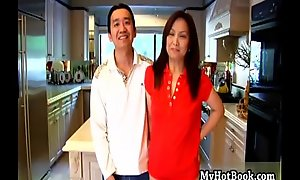 Youll exalt watching this happy  Asian MILF  as sh