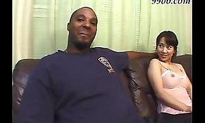 Asian girl fucks a black dude