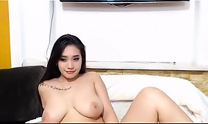 Sexy Asian Cam-girl with Big Bristols Cam-show