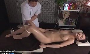 Japanese rub down sex with beautiful neonate