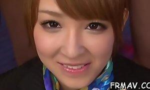 Bonny japanese darling gives impressive oral