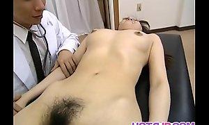 Saki Shiina has Victorian cunt prearranged and sucks weaken phallus