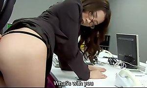 Subtitles - Brass hat fucked her japanese secretary Ibuki