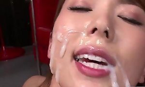 Yui Hatano semblance pleased with so many dicks around their way